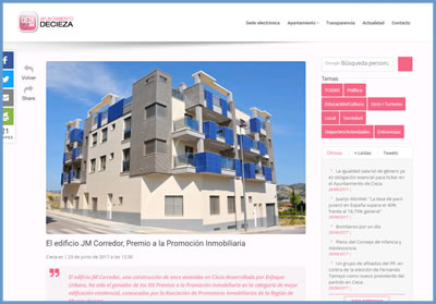 Edificio JM Corredor premio promoción inmobiliaria